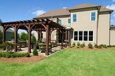 House with pergola — Stock Photo