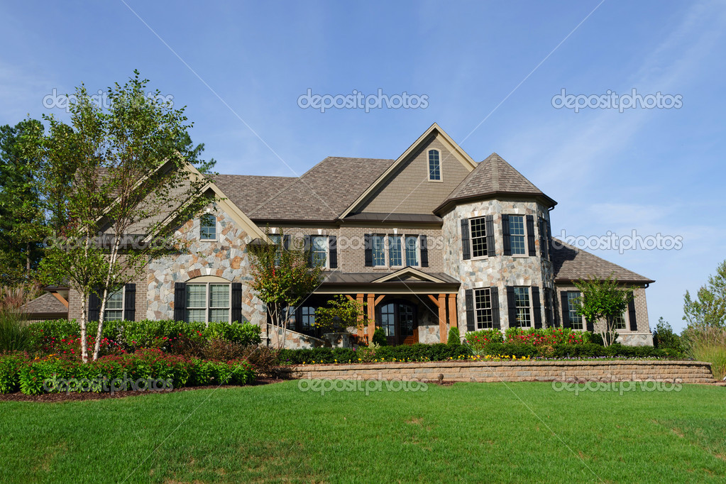 Upscale suburban house stock photo kzlobastov 11382358 for House photography