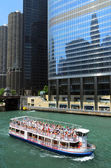 Chicago river cruise — Stock Photo