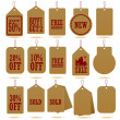 Royalty-Free Stock Vectorielle: Craft Paper Hang Tag