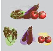 Green Grocery Vector Set1 — Stock Vector