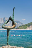 Dancing Girl Statue. Budva. Montenegro. — Stock Photo