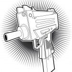 Uzi machine gun — Stock Vector #11330524