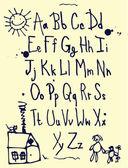 Kids Alphabet — Stock Vector