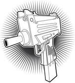 Uzi-maschinengewehr — Stockvektor