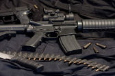 Modern weapon M4 — Stock Photo