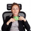 Businesswoman relaxing — Stock Photo