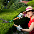 Gardener woman — Stock Photo