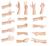 Set of gestures hand — Stock Photo