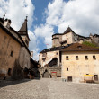 Stock Photo: Oravcastle courtyard