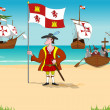 Stock Photo: Discoverer Christopher Columbus