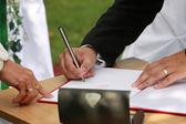 Die Hochzeit-Signatur — Stockfoto