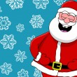 Funny laughing santa — Stock Photo #11404294