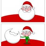 Santa and elf — Stock Photo #11404342