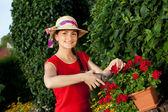 Gardener woman — Stock Photo