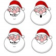 Funny Santa Claus heads — Stock Vector #11404233