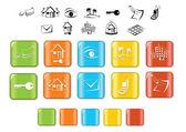 Real estate icon set — Stock Vector