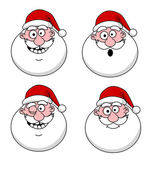 Funny Santa Claus heads — Stock Vector