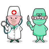 Doctor and surgeon — Stock Vector