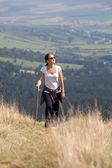 Trekking mujer — Foto de Stock