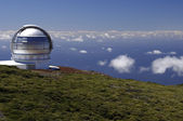 Astronomical observatory at the top of the island — Stock Photo