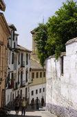 Narrow little street in Albacin. Granada — 图库照片