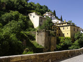 Medieval houses at the hills of Alhambra — Stock Photo