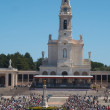FATIMA, PORTUGAL - JUNE 13: View of Fatima Santuary in June peregrination June 13, 2012 in Fatima, Portugal — Stock Photo