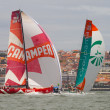 LISBON, PORTUGAL - JUNE 9: Groupama Sailing Team Volvo Ocean Race - Lisbon StopOver  - Harbour Race June 9, 2012 in Lisbon, Portugal — Stock Photo