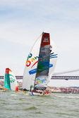 LISBON, PORTUGAL - JUNE 9: Volvo Ocean Race - Lisbon StopOver - Harbour Race June 9, 2012 in Lisbon, Portugal — Stock Photo