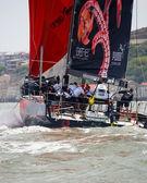 LISBON, PORTUGAL - JUNE 9: Puma Ocean Racing Powered by Berg Propulsion in Volvo Ocean Race - Lisbon StopOver - Harbour Race June 9, 2012 in Lisbon, Portugal — Stock Photo