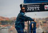 LISBON, PORTUGAL - JUNE 9: Team Telefonica in Volvo Ocean Race - Lisbon StopOver - Harbour Race June 9, 2012 in Lisbon, Portugal — Stock Photo