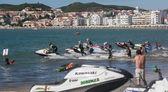 SAO MARTINHO DO PORTO, PORTUGAL - AUGUST 5: Start of race in Gran Prix of Jet Ski 2012 August 5, 2012 in Sao Martinho do Porto, Portugal — Stock Photo