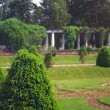 Garden with pillars — Stock Photo