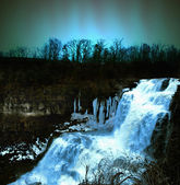 Waterfall at night — Stok fotoğraf