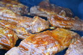 Grilled pork ribs on grill — Stock Photo