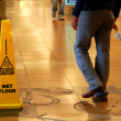 caution wet floor — Stock Photo