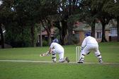 Batsman hitting ball — Stock Photo