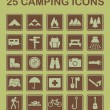 Stock Vector: 25 Camping Icons
