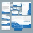 Modern technology stationery set — Stockvectorbeeld