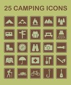 25 Camping Icons — Stock Vector