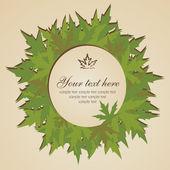 Autumn leaves banner — Stock Vector