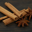 Foto de Stock  : Cinnamon and star anise