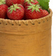 Stock Photo: Strawberry in bark basket