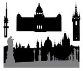 Prague silhouette-4 — Stock Vector