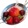 Waching fruits - Stock Photo