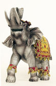 Statue of an Indian elephant — Stock Photo
