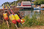 Lobster buoys and traps — Foto Stock