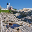 Pemaquid Point Lighthouse in Bristol, Maine — Stock Photo