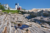 Pemaquid point lighthouse i bristol, maine — Stockfoto
